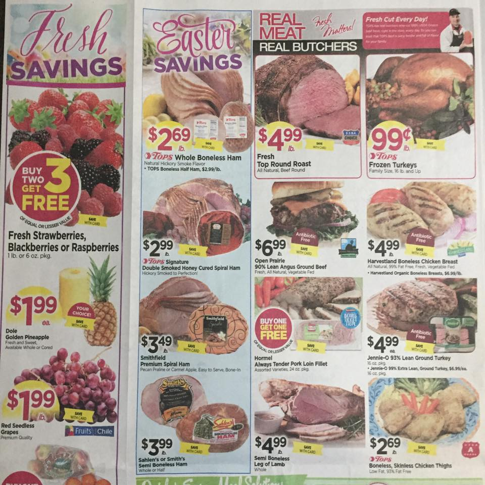 Tops Markets Ad Scan Week Of 4 9 17 To 4 15 17 Page 2a