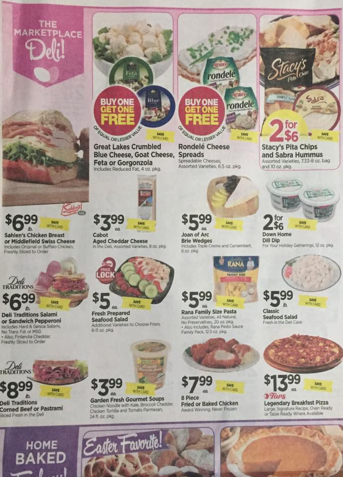 Tops Markets Ad Scan Week Of 4 9 17 To 4 15 17 Page 3a