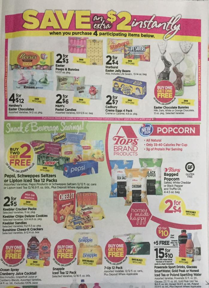 Tops Markets Ad Scan Week Of 4 9 17 To 4 15 17 Page 5a