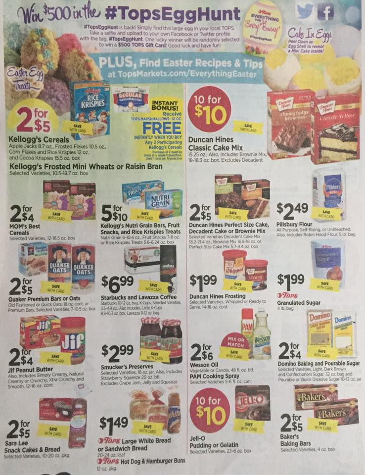 Tops Markets Ad Scan Week Of 4 9 17 To 4 15 17 Page 7a