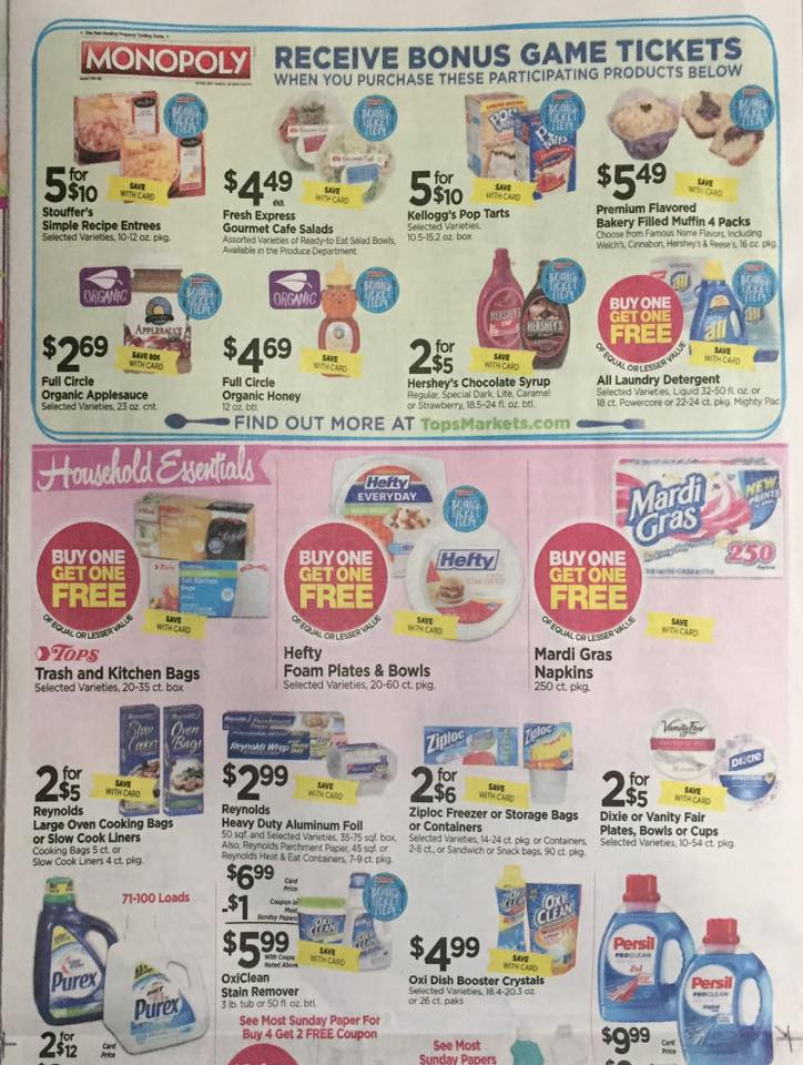 Tops Markets Ad Scan Week Of 4 9 17 To 4 15 17 Page 8a