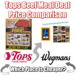 Tops Beef Meal Deal Price Comparisons