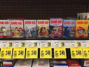 Band Aid Sale At Wegmans Character Ones