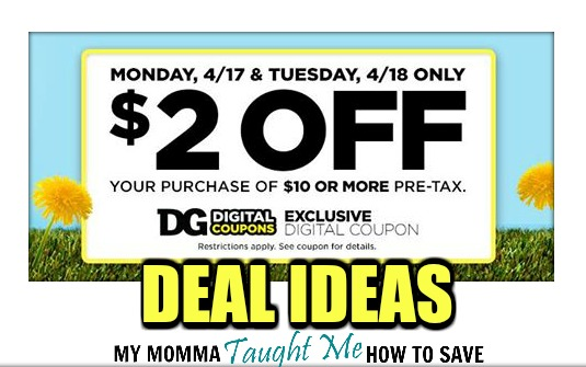 Dollar General Deal Ideas Using 2 Off 10 Coupon