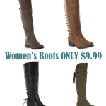 Womens Boots Only $9.99