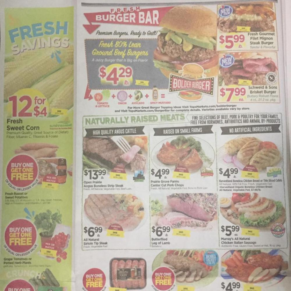 Tops Markets Ad Scan Week Of 5 28 17 To 6 3 17 Page 2a