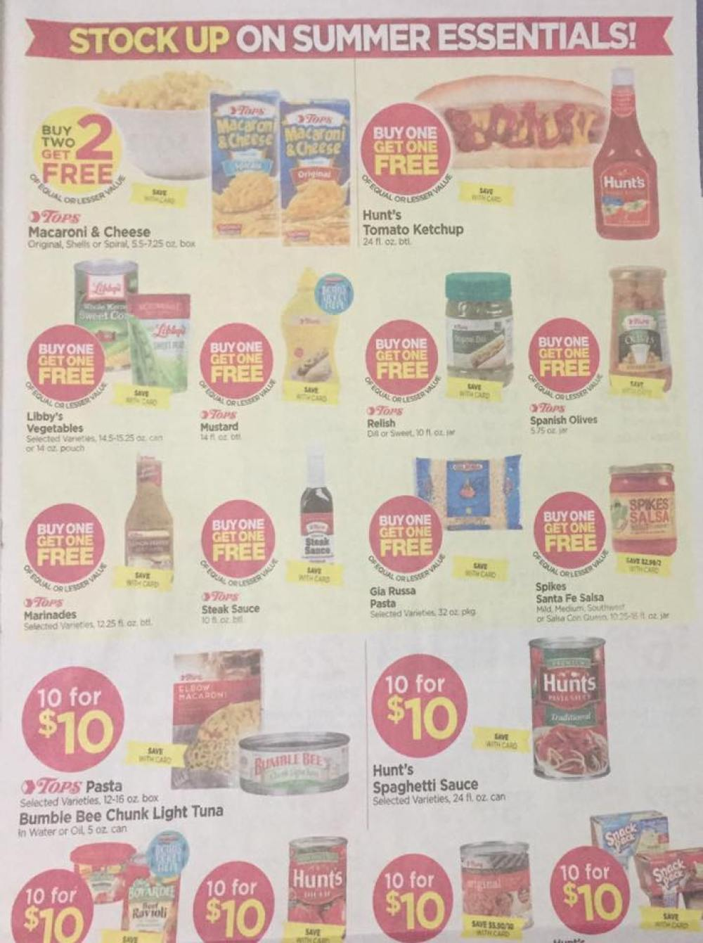 Tops Markets Ad Scan Week Of 5 28 17 To 6 3 17 Page 7a