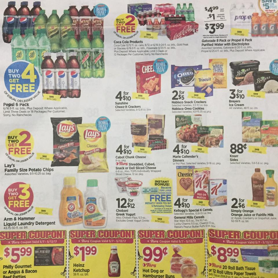 Tops Markets Ad Scan Week Of 5 7 17 To 5 13 17 Page 1b