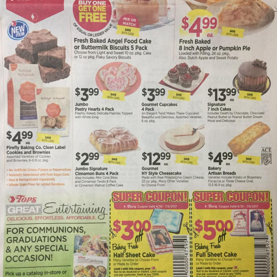 Tops Markets Ad Scan Week Of 5 7 17 To 5 13 17 Page 3b