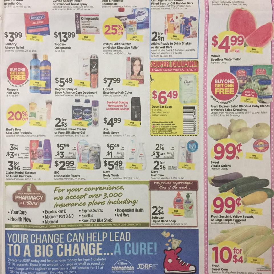 Tops Markets Ad Scan Week Of 5 7 17 To 5 13 17 Page 7b