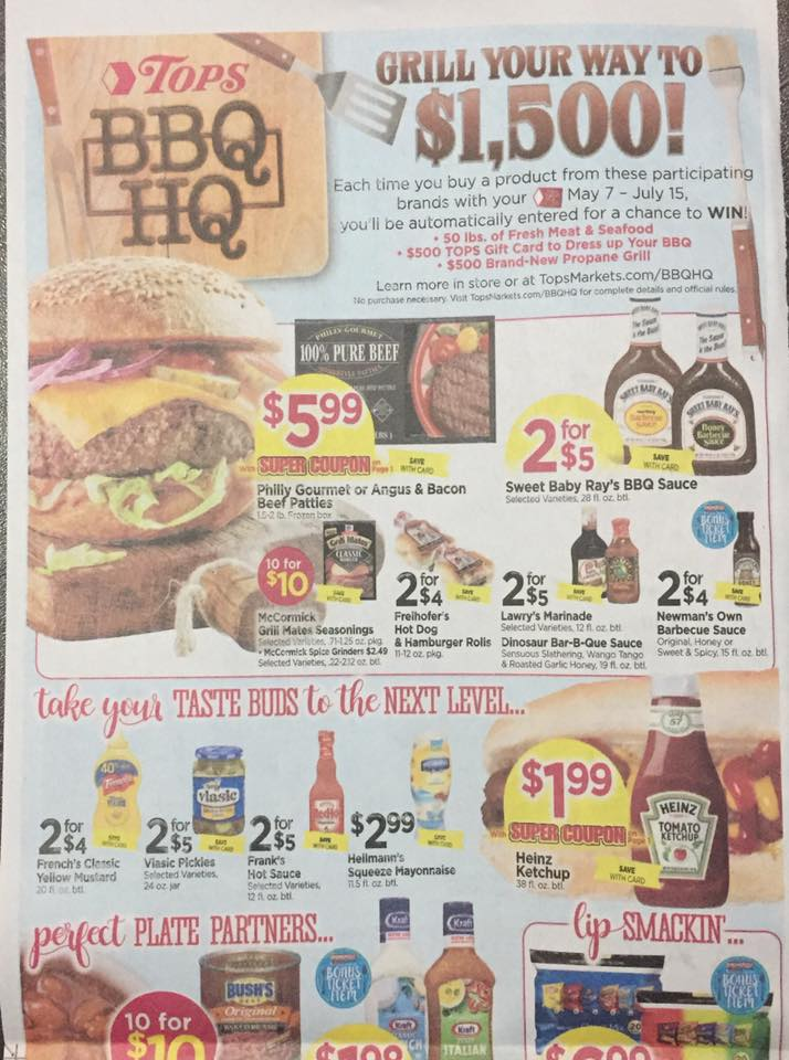 Tops Markets Ad Scan Week Of 5 7 17 To 5 13 17 Page W2a