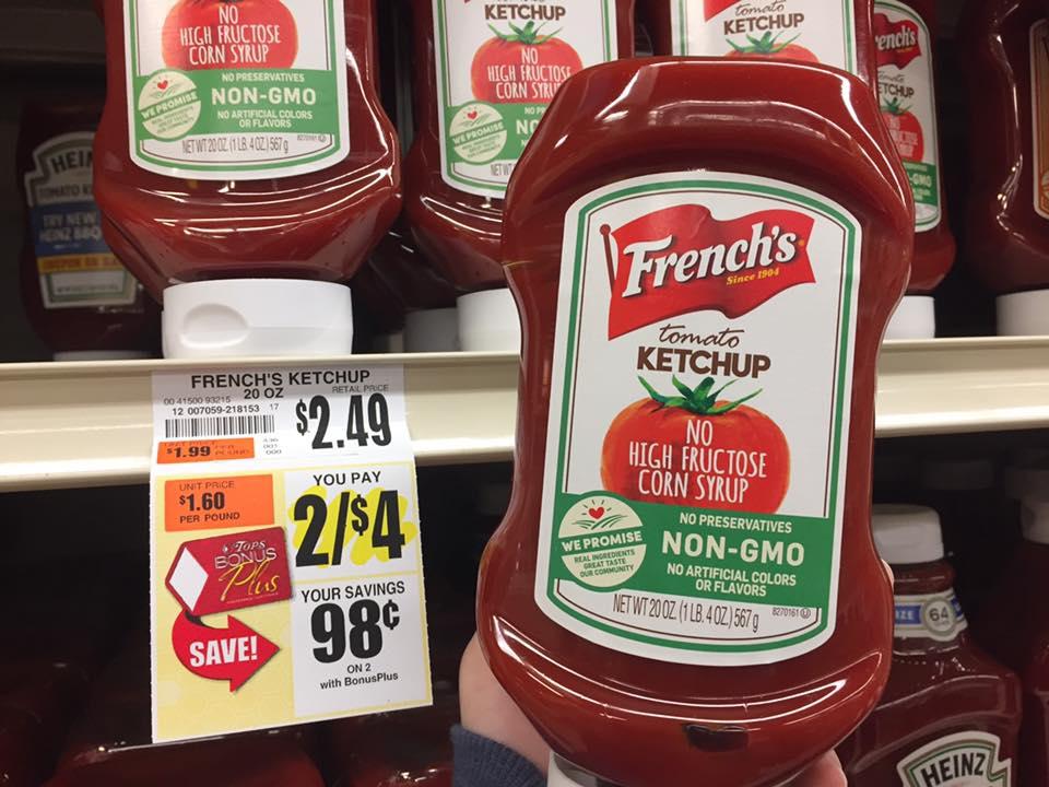 Free French's Ketchup At Tops
