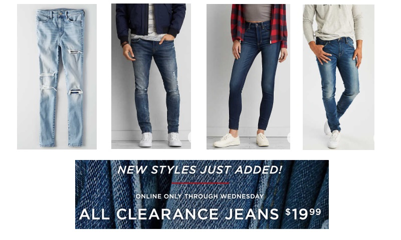 Clearanced Jeans At AE Only $19 99