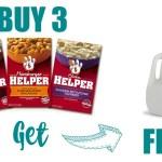 FREE Milk Wyb 3 Boxes Of Hamburger Helper