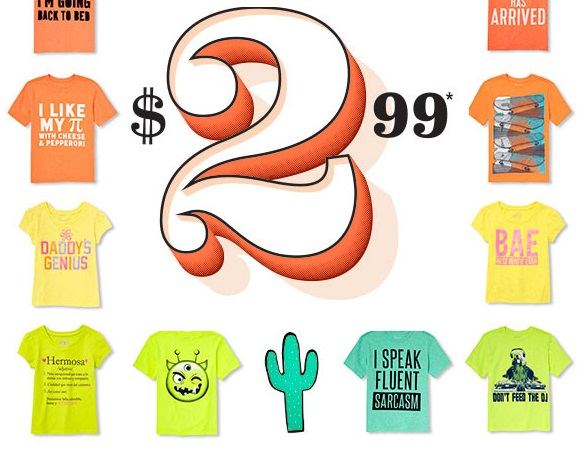 The Childrens Place $2 99 Tees