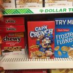 Quaker Capn Crunch Cereal At Dolalr Tree