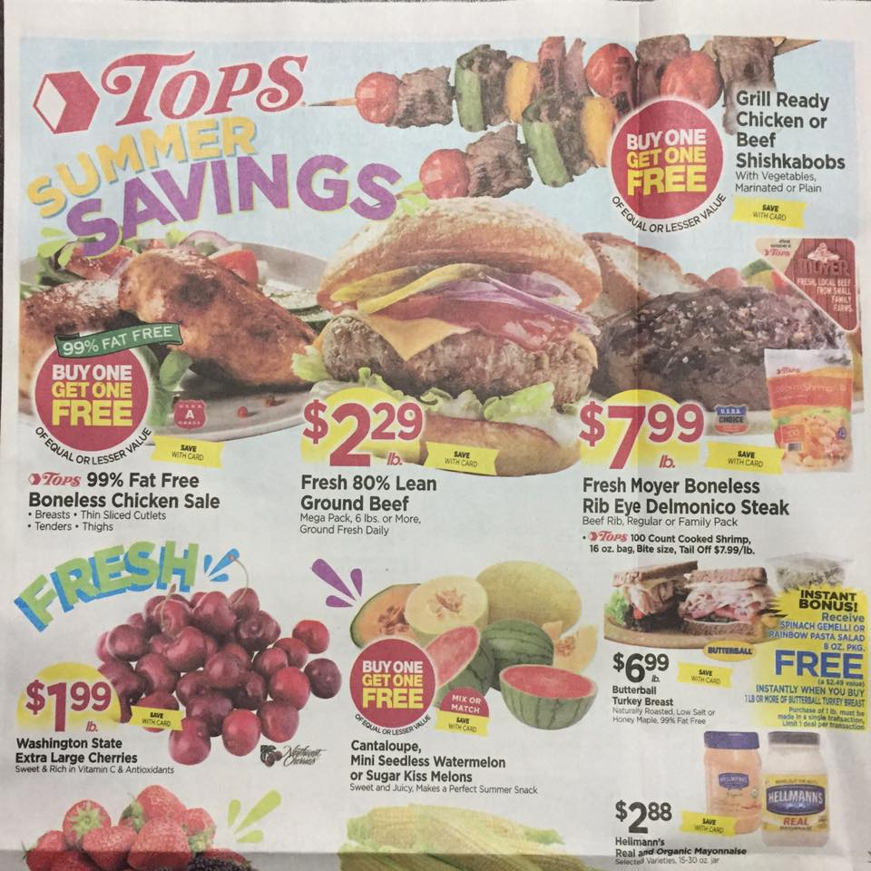 Tops Markets Ad Scan Week Of 7 23 Page 1a