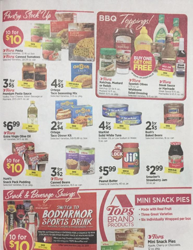 Tops Markets Ad Scan Week Of 7 23 Page 5a