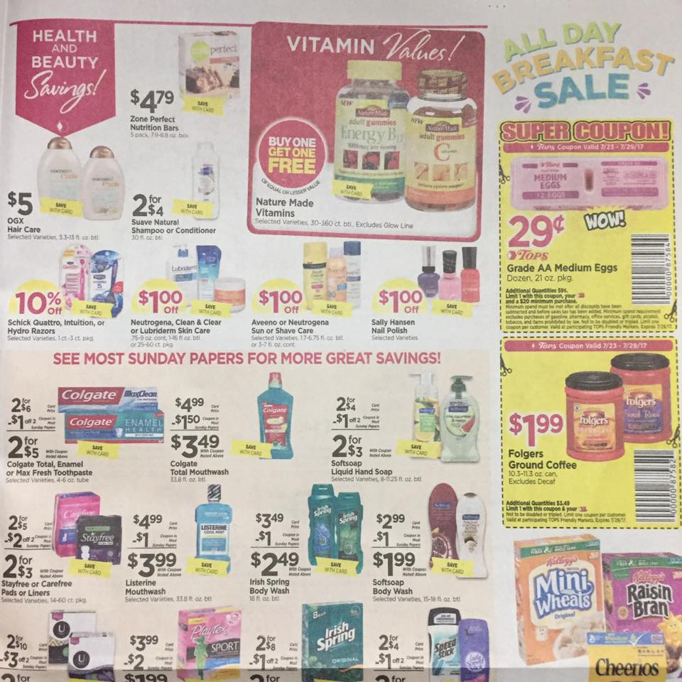 Tops Markets Ad Scan Week Of 7 23 Page 7a