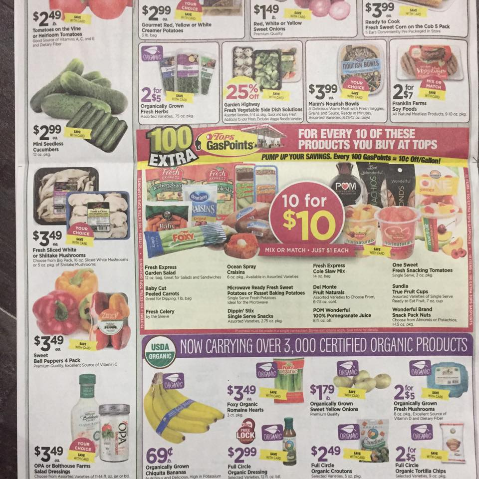 Tops Markets Ad Scan Week Of 7 23 Page 8b