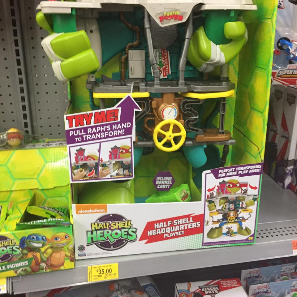 Half Shell Walmart Toy Clearance