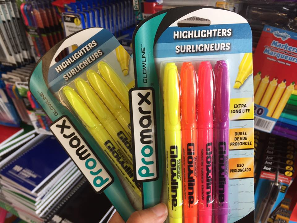 Highlighters At At The Dollar Tree