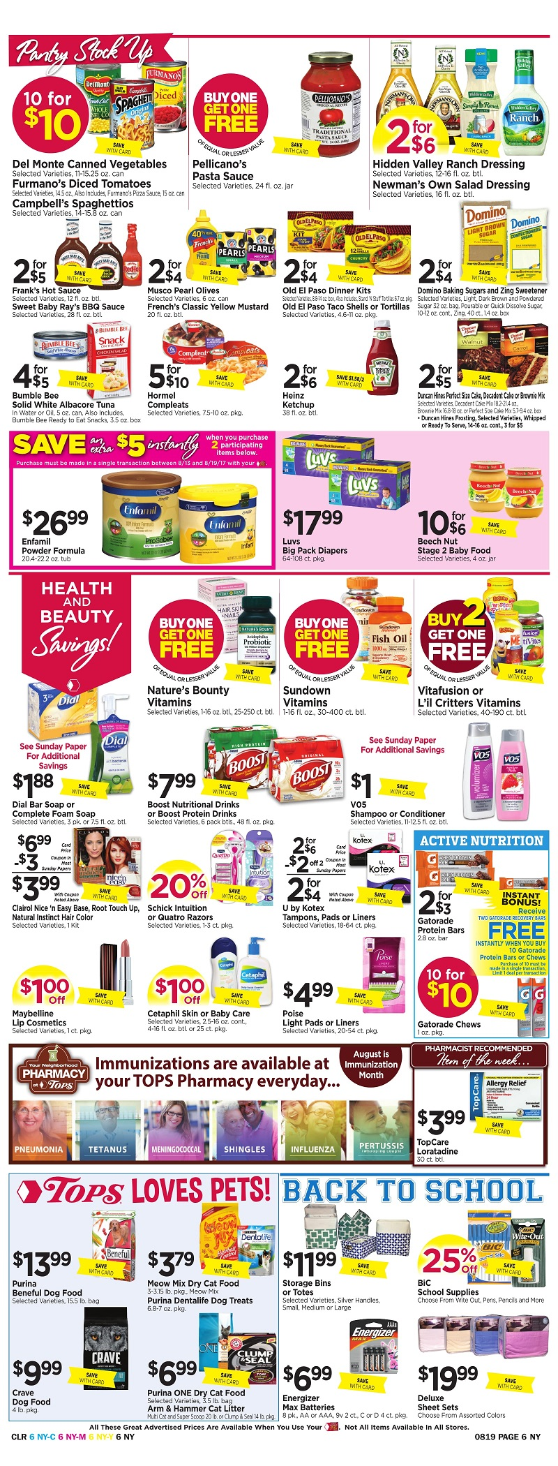 Tops Markets Ad Scan Week Of 8 13 Page 6