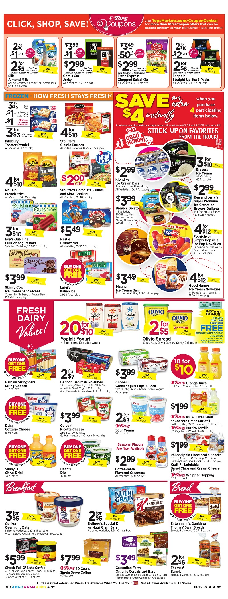 Tops Markets Ad Scan Week Of 8 6 Page 4