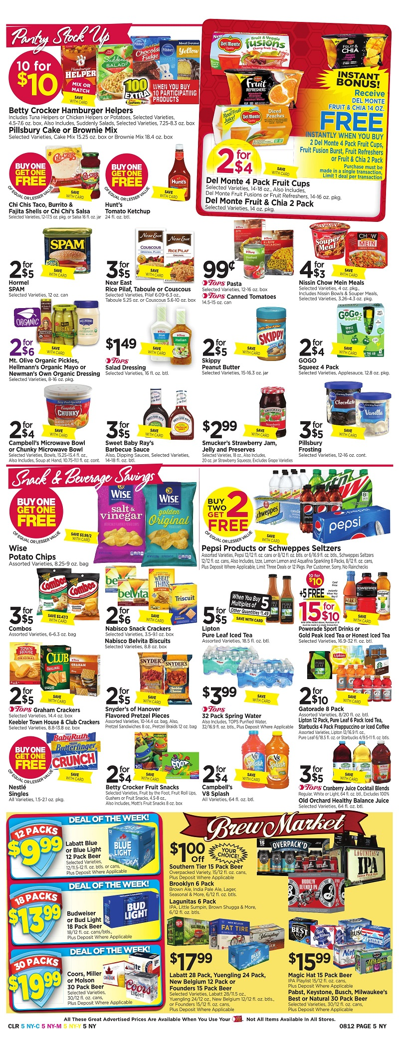 Tops Markets Ad Scan Week Of 8 6 Page 5