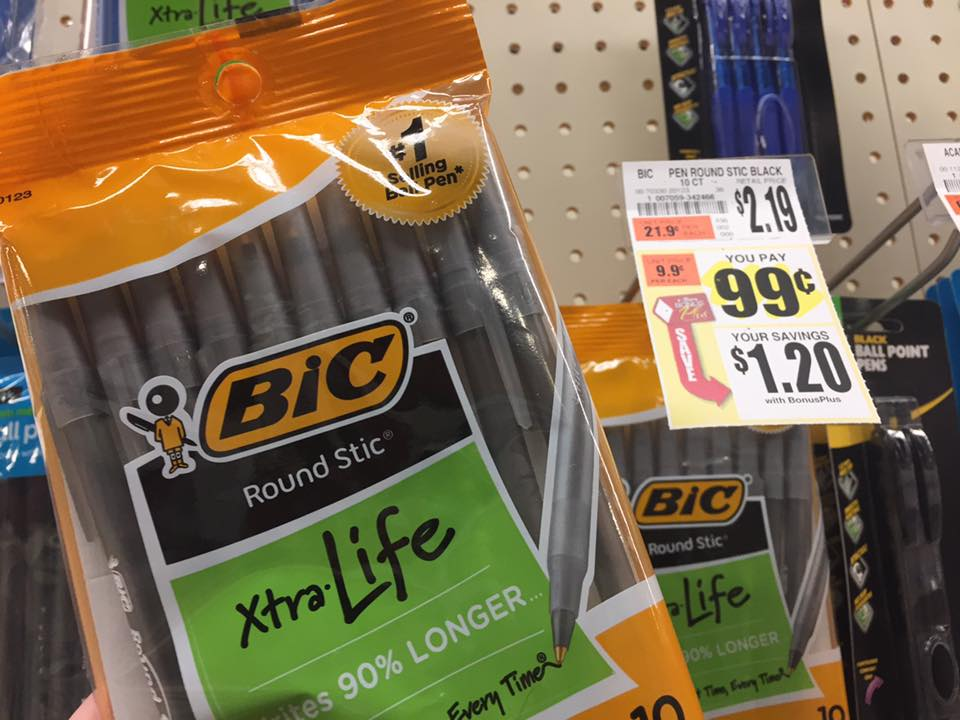 Free Bic Pens At Tops Markets
