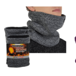 2 Pack Arctic Extreme Thick Heat Trapping Thermal Insulated Fleece Lined Neck Warmers