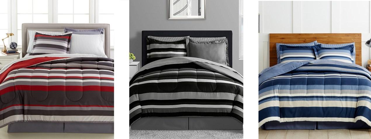 8 Pc Reversible Queen Bedding