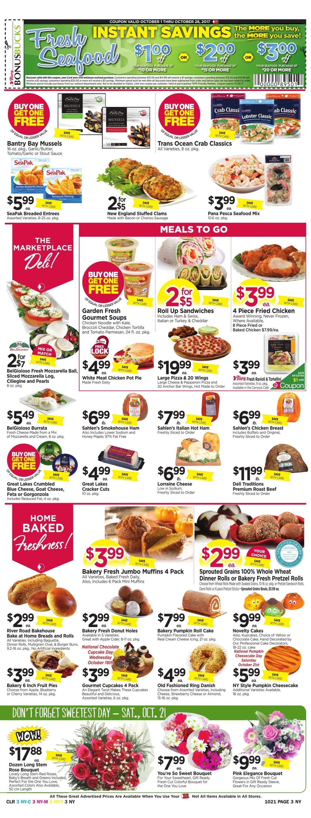 Tops Markets Ad Preview Week 10 15 Page 3