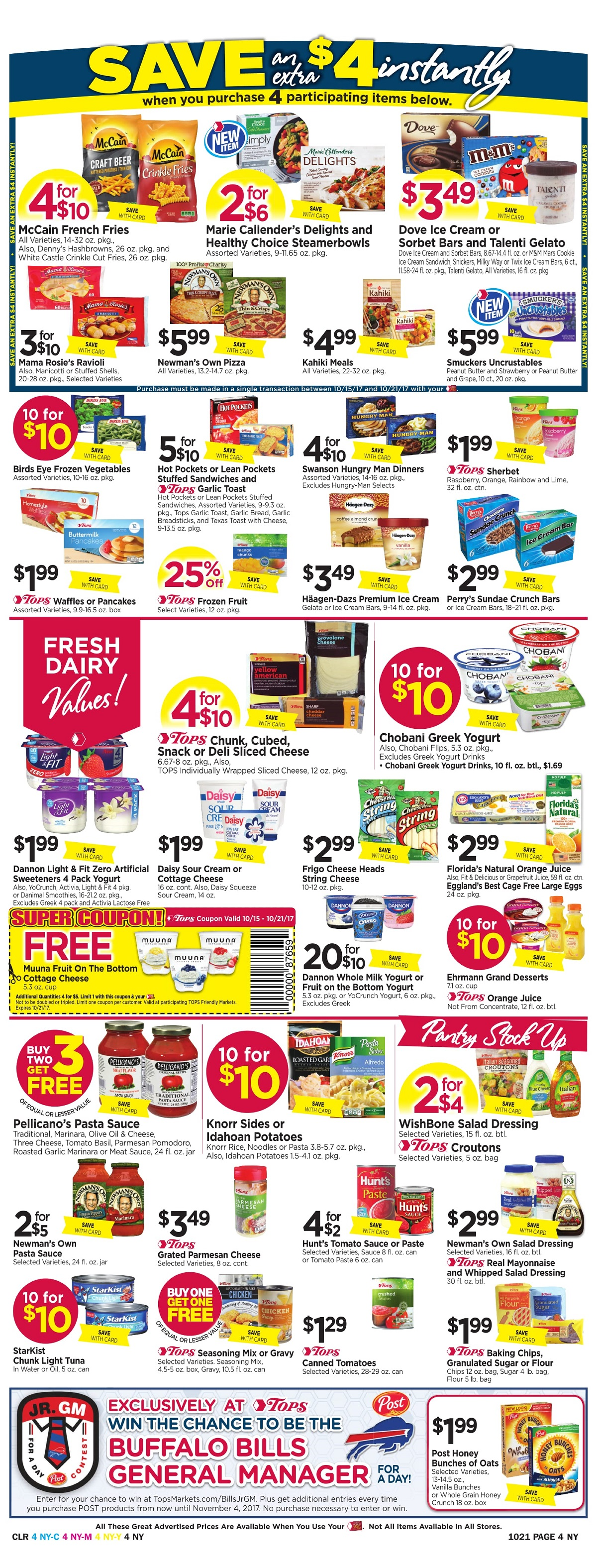 Tops Markets Ad Preview Week 10 15 Page 4