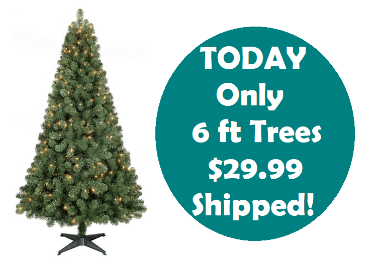 today only grab a 6ft prelit slim artificial christmas tree only 2999 shipped - Skinny Artificial Christmas Trees