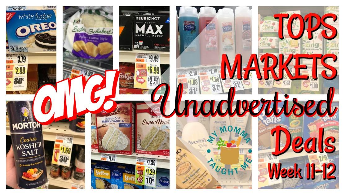 Tops Markets Unadvertised Deals Week 11 12