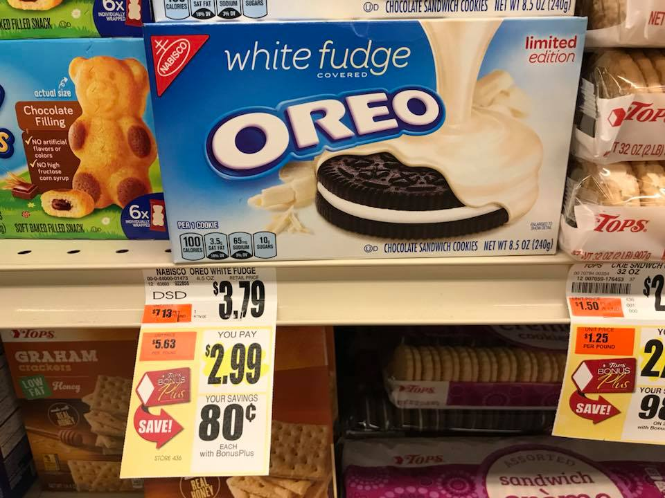 Nabisco Oreos At Tops Markets