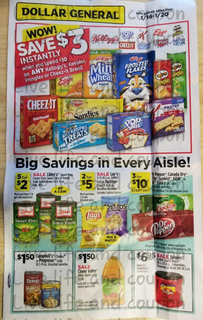 Dollar General Ad Week 1 14 18 Page 1