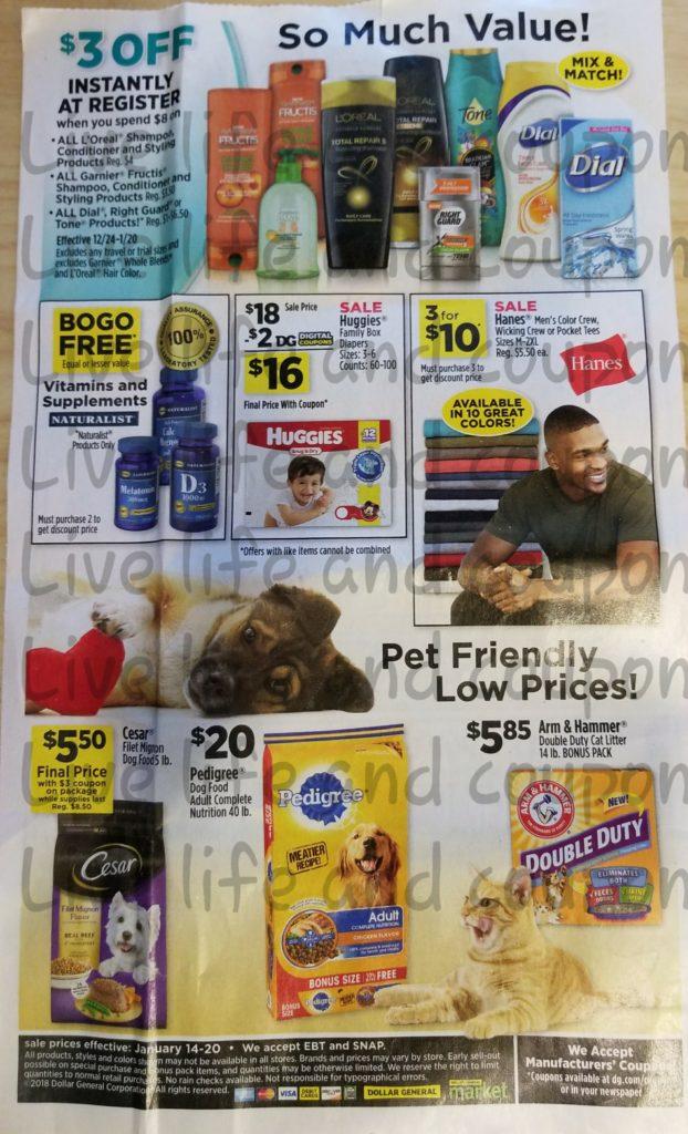 Dollar General Ad Week 1 14 18 Page 4