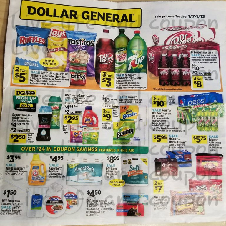 Dollar General Ad Week 1 7 18 Page 1