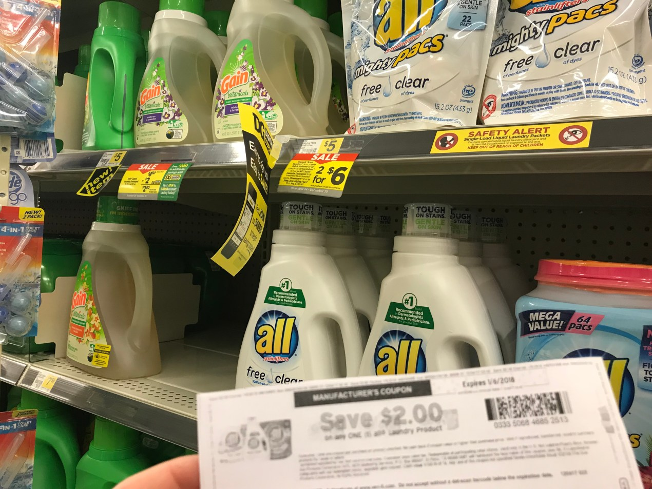 All Detergent for as low as a buck at Dollar General!