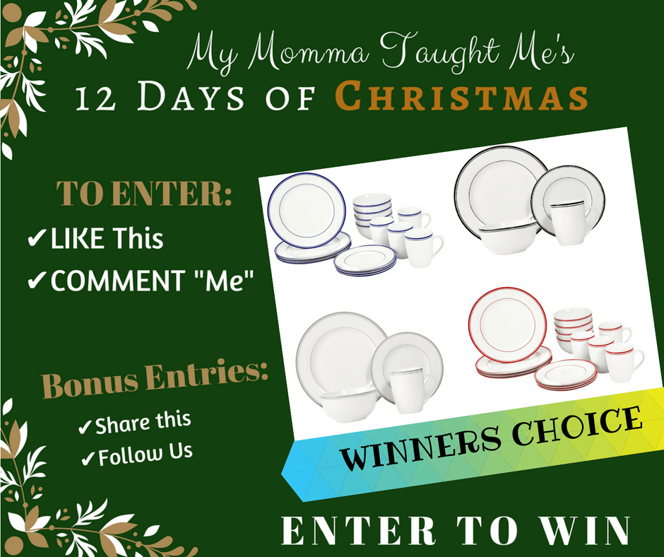 My Momma Taught Me's 12 Days Giveaway Day 9 2017