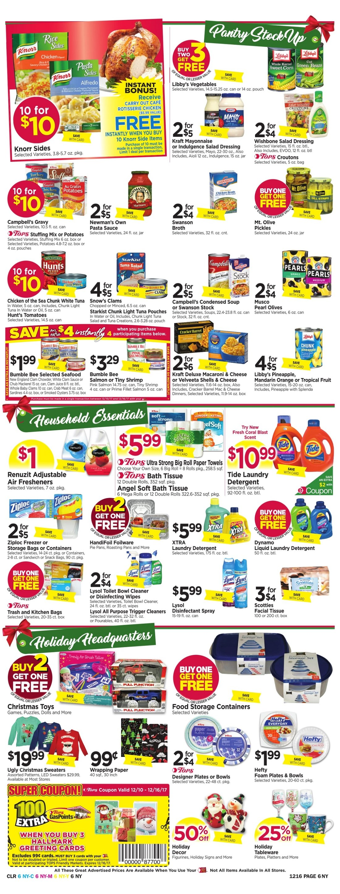 Tops Markets Ad Preview Week 12 10 Page 6