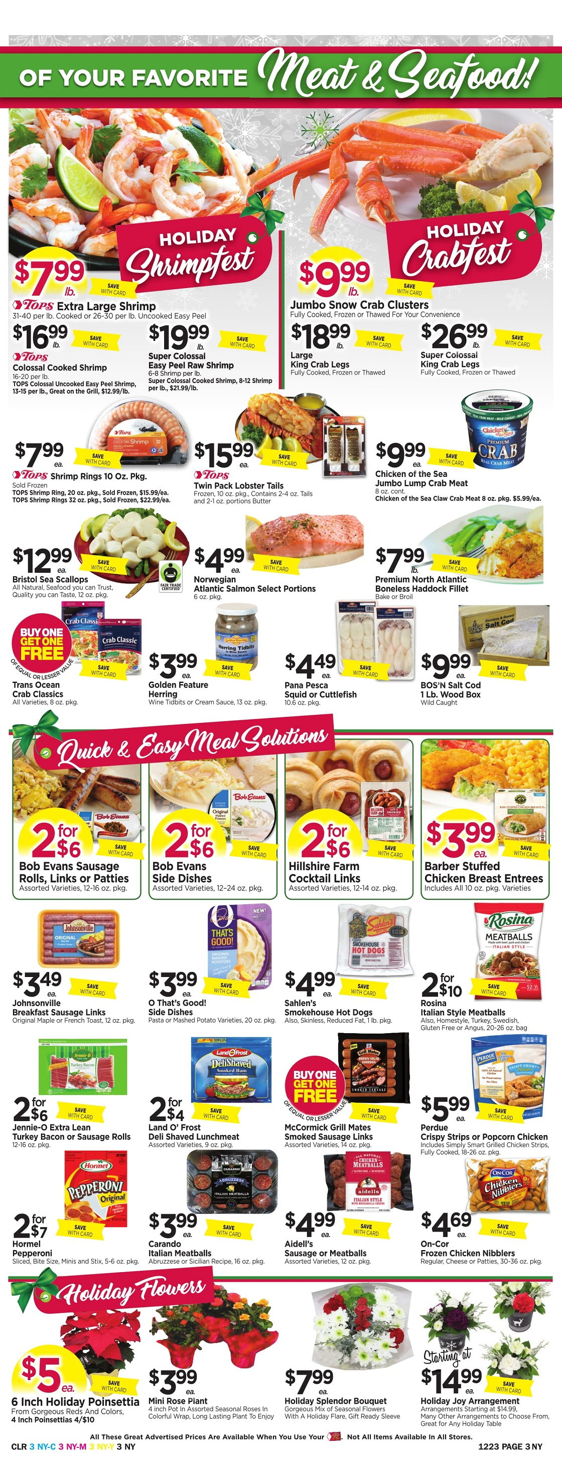 Tops Markets Ad Scan Week 12 17 Page 3