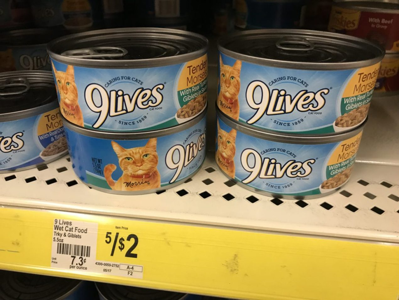 9 Lives Canned Cat Food At Dollar General (2)