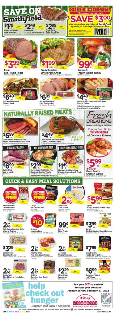 Tops Markets Ad Preview Week 1 28 18 Page 2