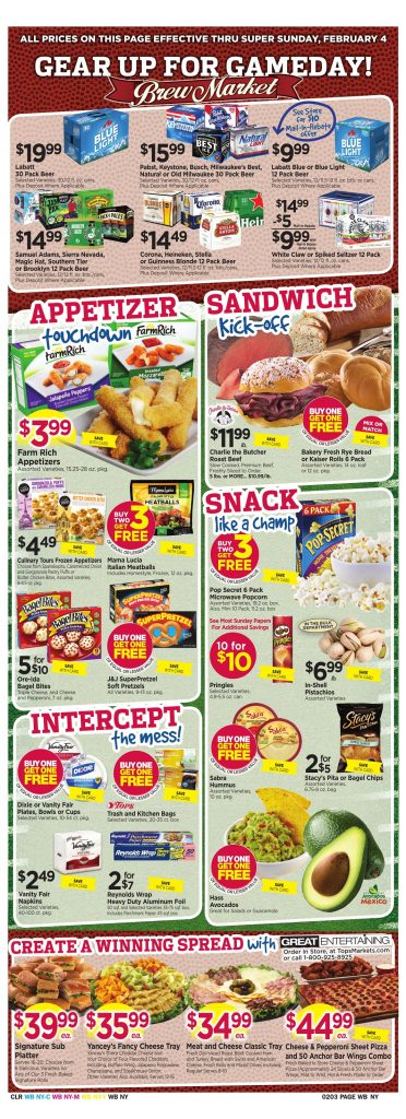Tops Markets Ad Preview Week 1 28 18 Wrap 2