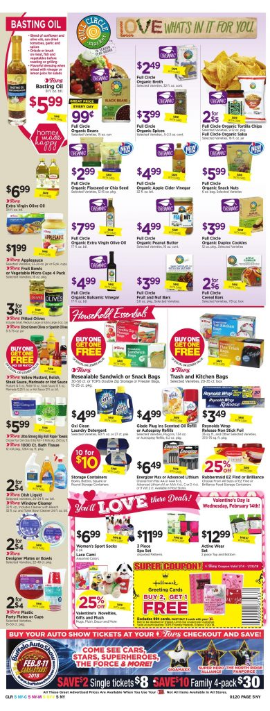 Tops Markets Ad Scan Preview Week 1 14 18 Page 5