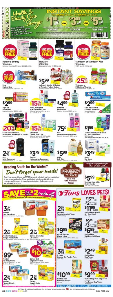 Tops Markets Ad Scan Preview Week 1 14 18 Page 6