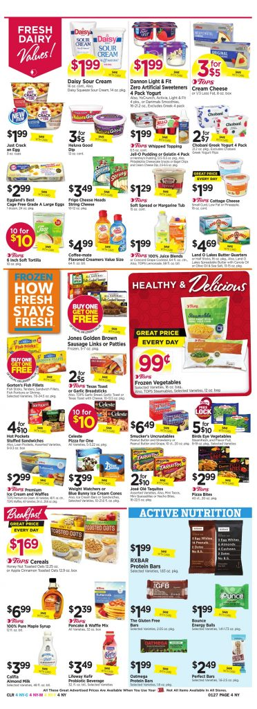 Tops Markets Ad Scan Week 1 21 18 Page 4